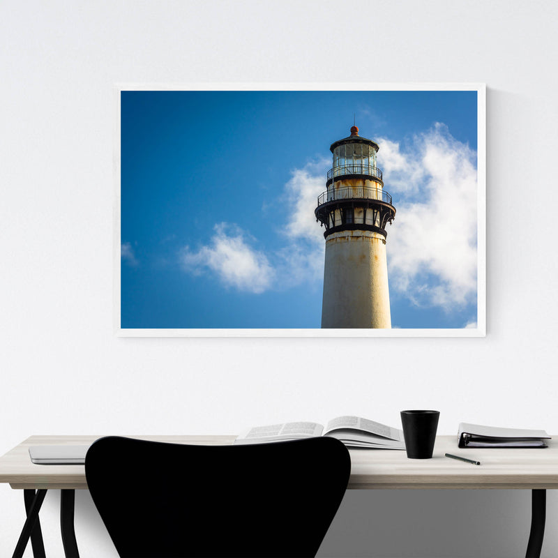 Coastal California Lighthouse Framed Art Print