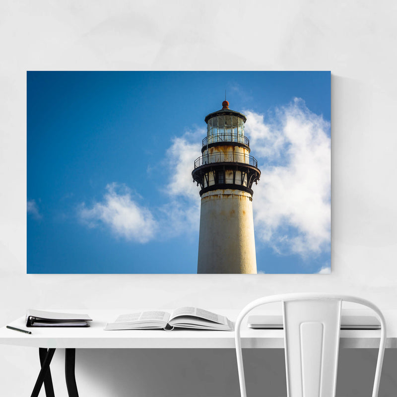 Coastal California Lighthouse Metal Art Print