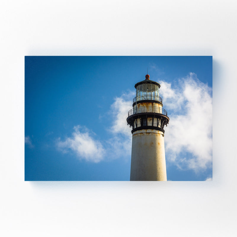 Coastal California Lighthouse Canvas Art Print