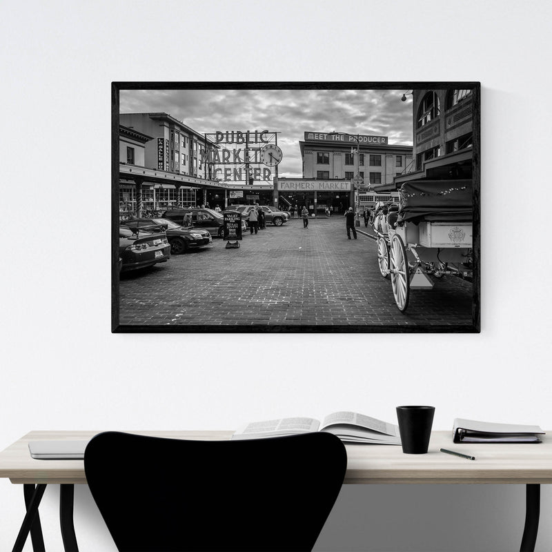 Seattle Pike Place Market Framed Art Print
