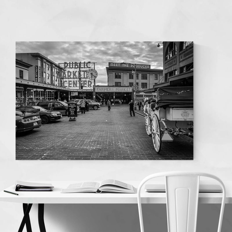 Seattle Pike Place Market Metal Art Print
