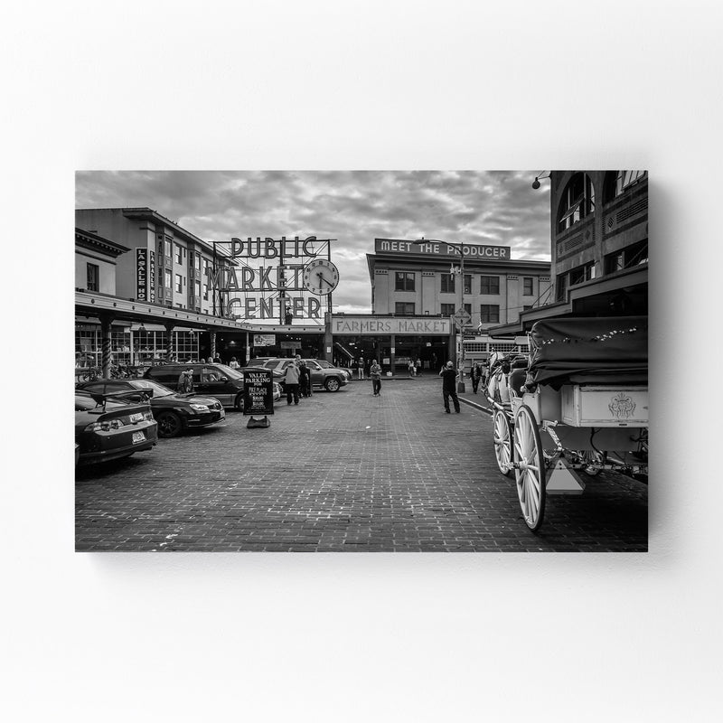 Seattle Pike Place Market Canvas Art Print