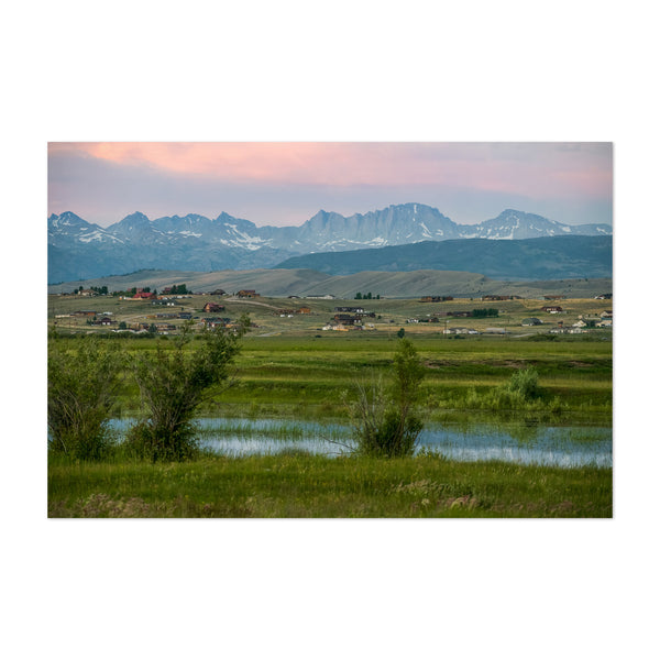 Wyoming Rural Mountains Nature Art Print