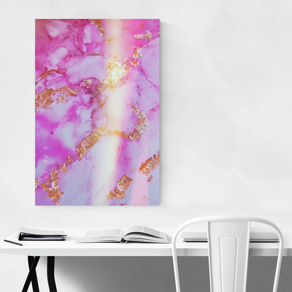 Pink & Gold Abstract Painting Art Print