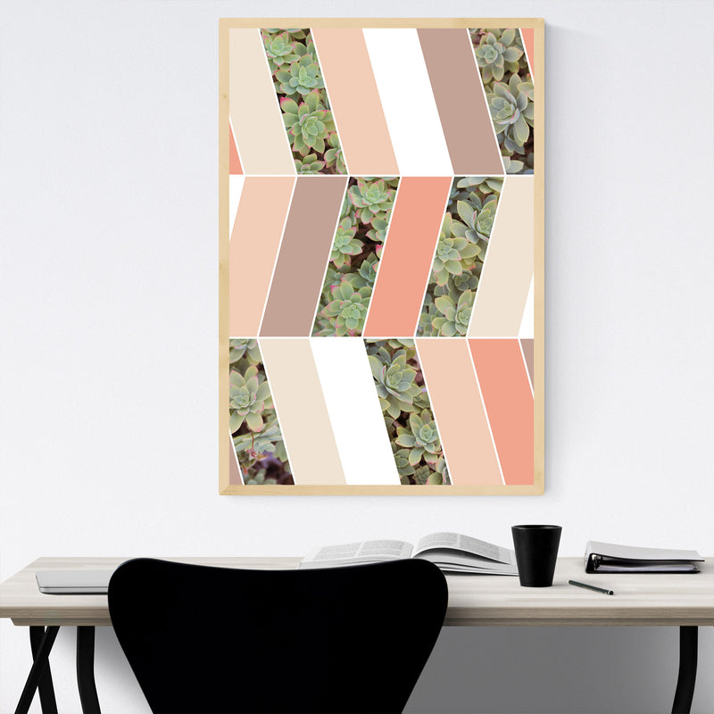 Abstract Pastel Botanical Framed Art Print