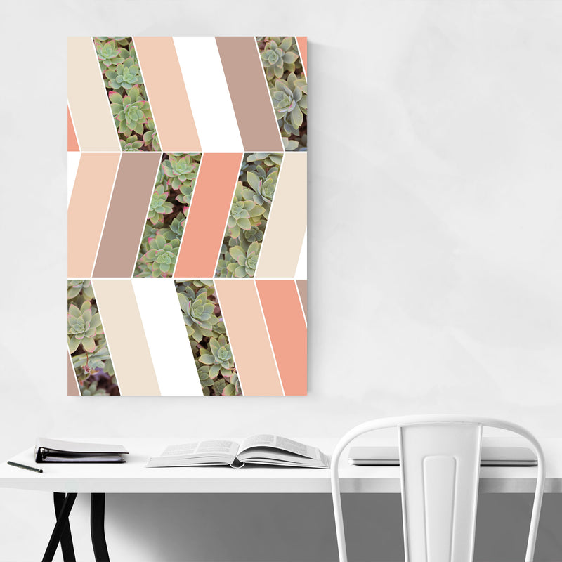 Abstract Pastel Botanical Metal Art Print