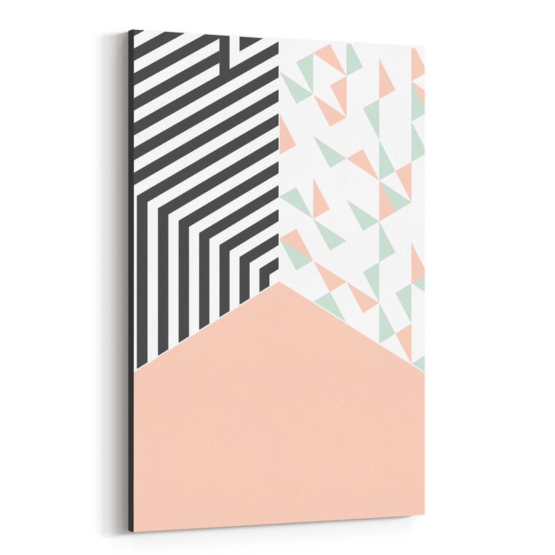 Abstract Shapes Pastel Pattern Canvas Art Print