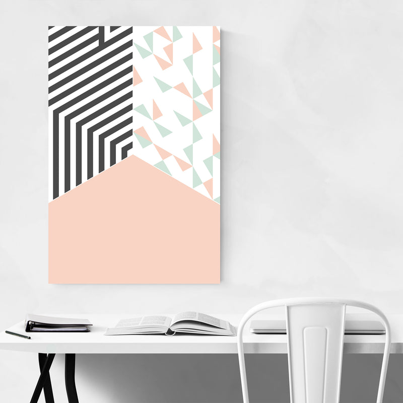 Abstract Shapes Pastel Pattern Metal Art Print