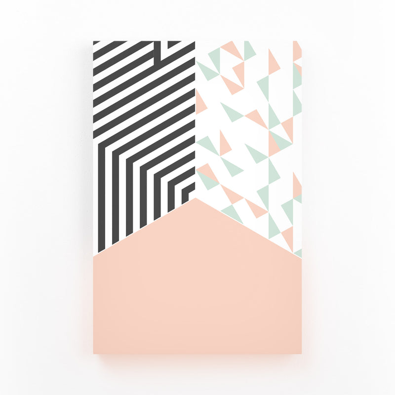 Abstract Shapes Pastel Pattern Mounted Art Print