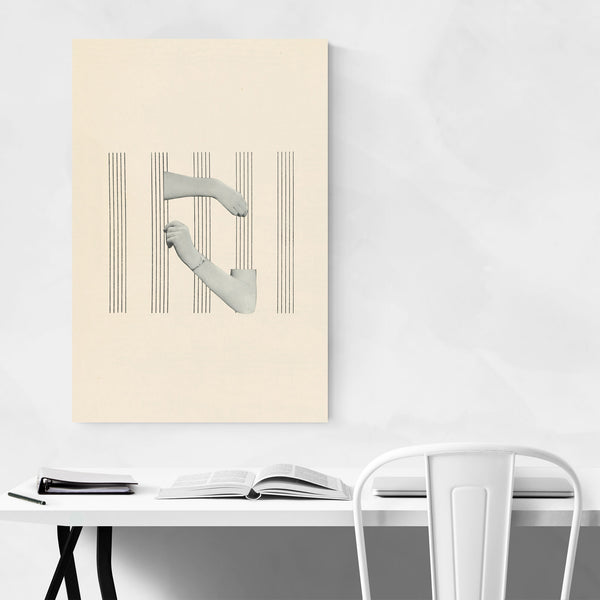 Abstract Hands Cello Music Art Print