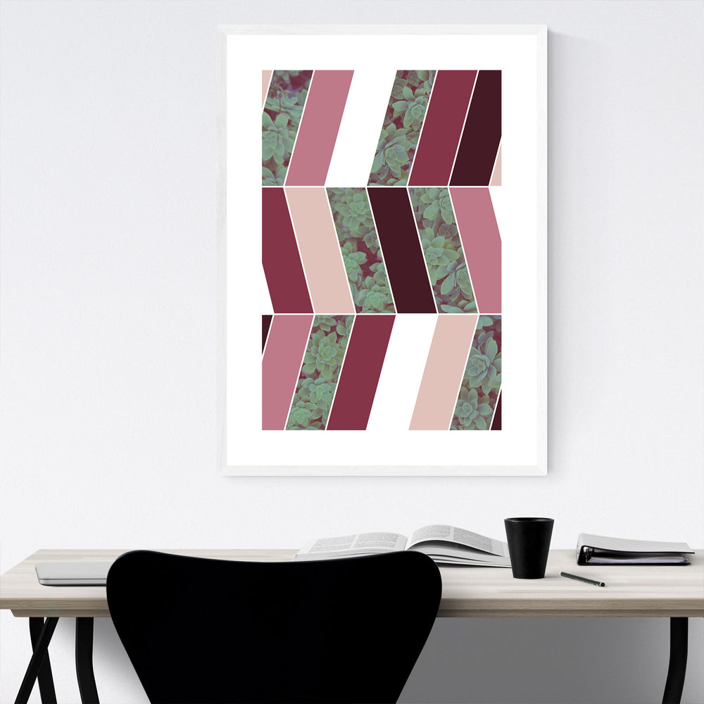 Abstract Purple Botanical Framed Art Print