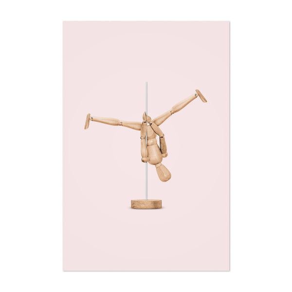 Pole Dancing Mannequin Funny Art Print