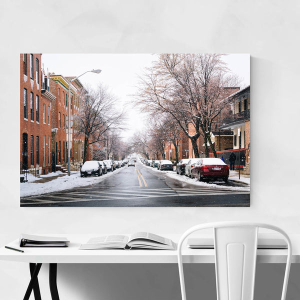 Butchers Hill Snow Baltimore Art Print