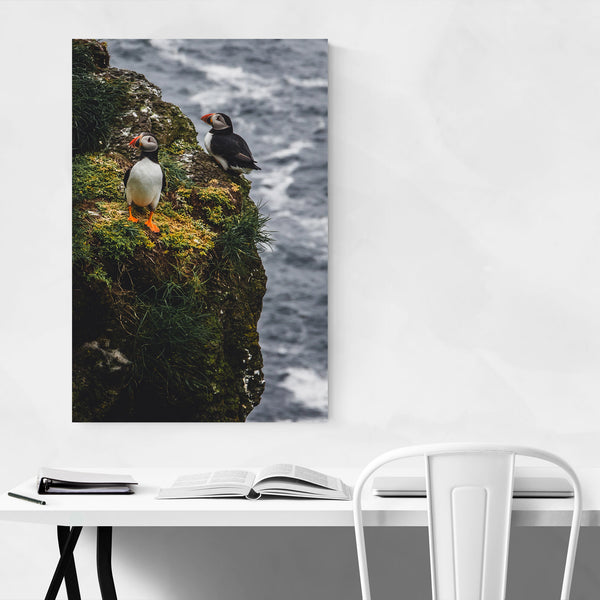 Faroe Islands Puffins Wildlife Art Print