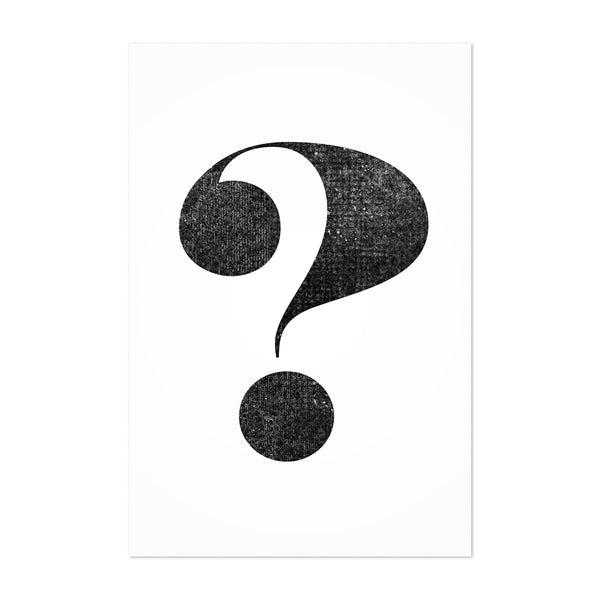 Question Mark Typography Art Print