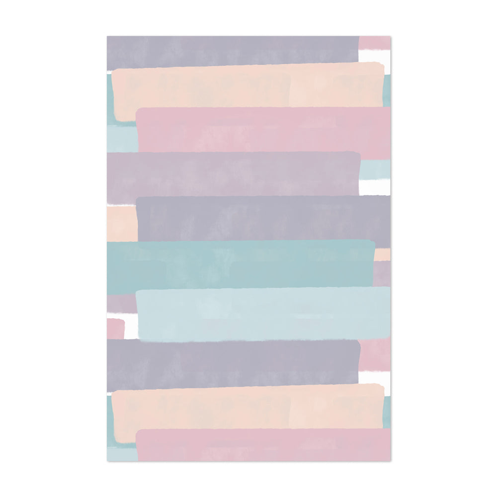 Abstract Pastel Brush Painting Art Print