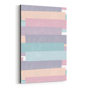 Abstract Pastel Brush Painting Canvas Art Print