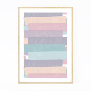 Abstract Pastel Brush Painting Framed Art Print