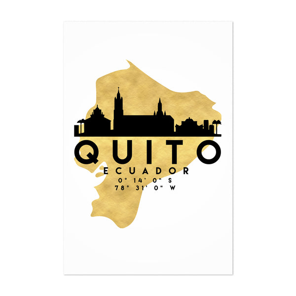 Minimal Quito Skyline Art Print