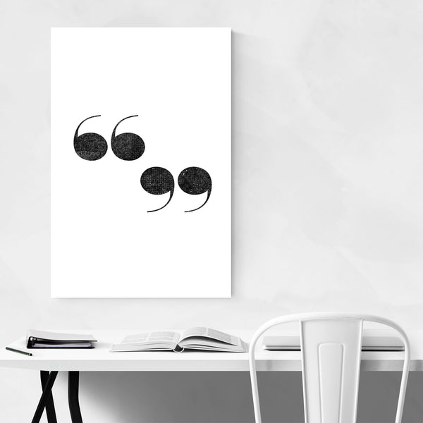 Quotation Mark Typography Art Print