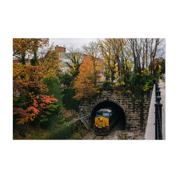 Railroad Fall Autumn Foliage Art Print