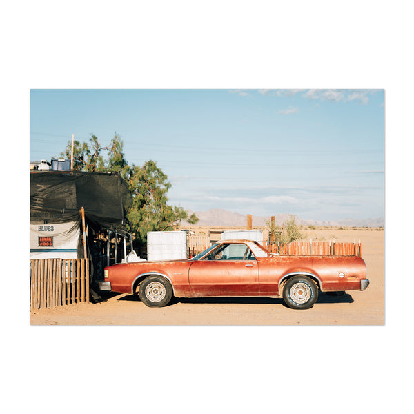 Old Car Slab City California Art Print