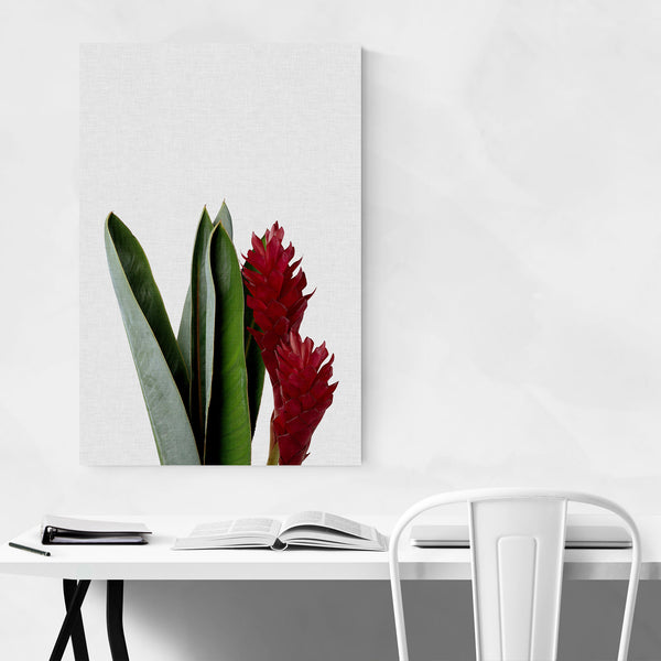 Red Floral Botanical Minimal Art Print