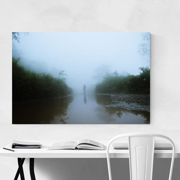 Fog Man Tree Plant Mystical Art Print