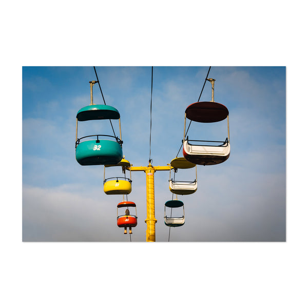 Santa Cruz Boardwalk Cable Cars Art Print