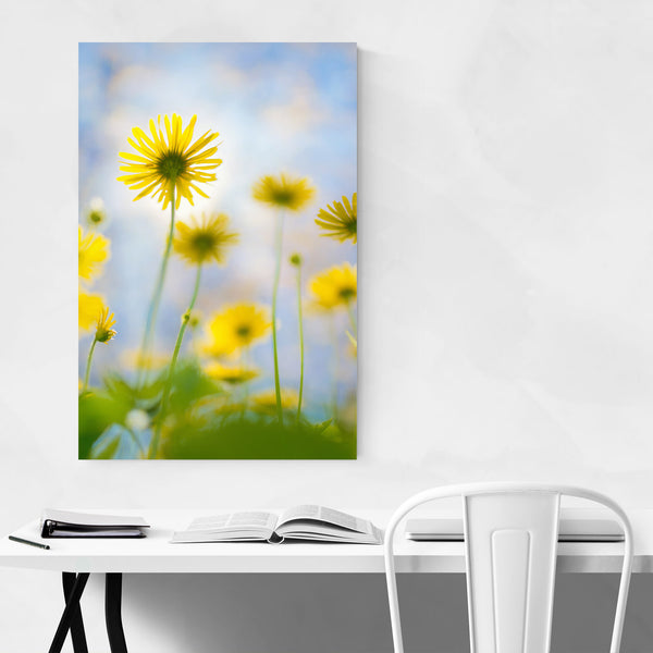 Yellow Flowers Floral Botanical Art Print