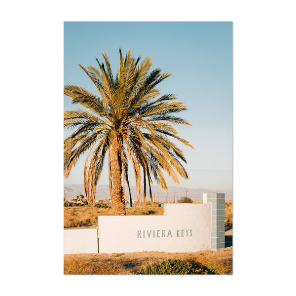 Salton Sea City California Art Print