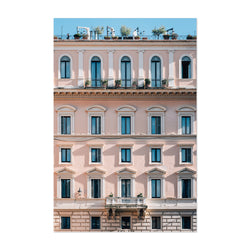 Rome Italy Pink Pastels Art Print