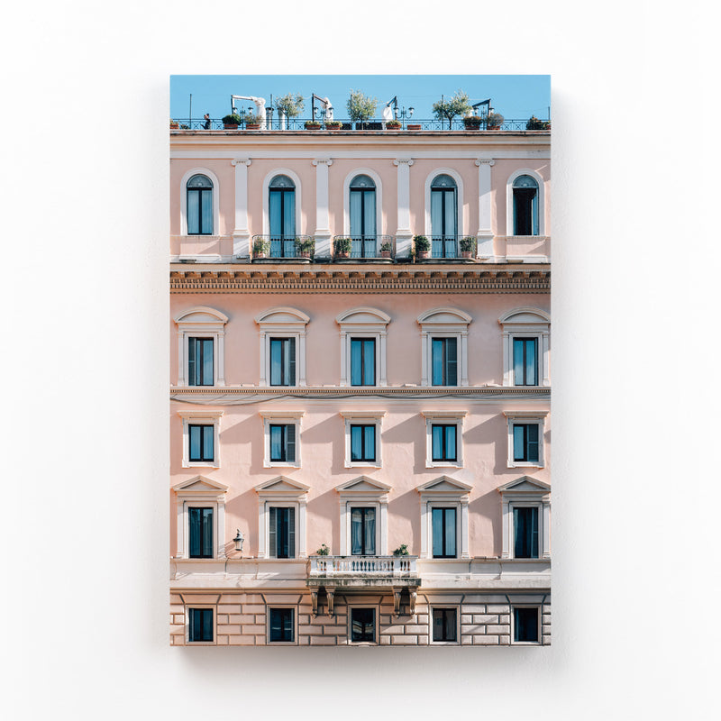 Rome Italy Pink Pastels Canvas Art Print