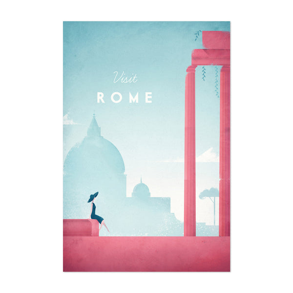 Minimal Travel Poster Rome Italy Art Print