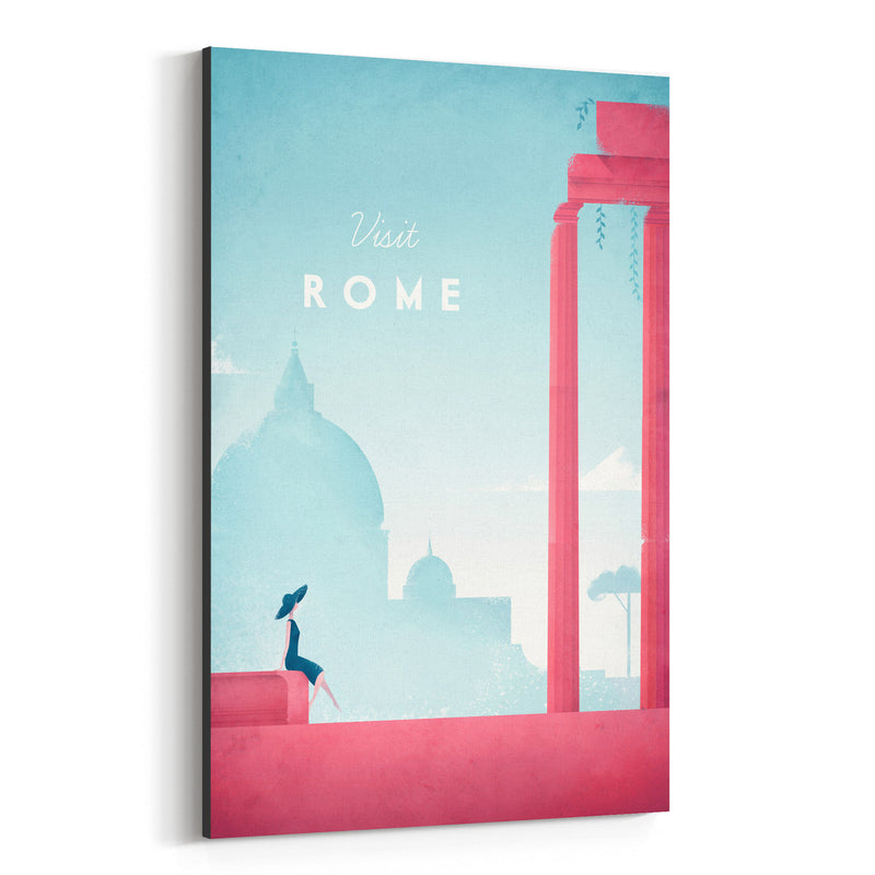 Minimal Travel Poster Rome Italy Canvas Art Print