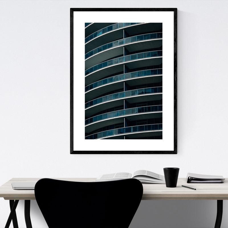 Modern Architecture Abstract Framed Art Print