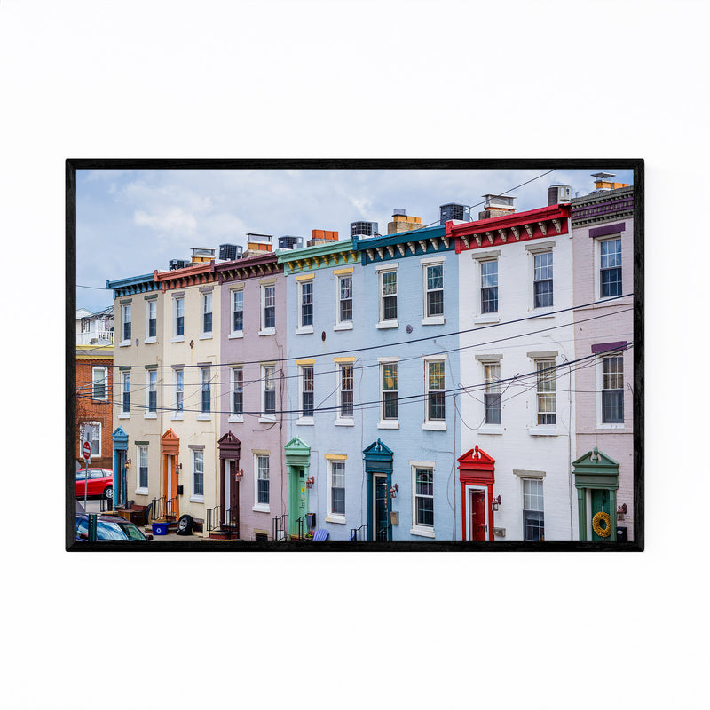 Colorful Houses Philadelphia Framed Art Print