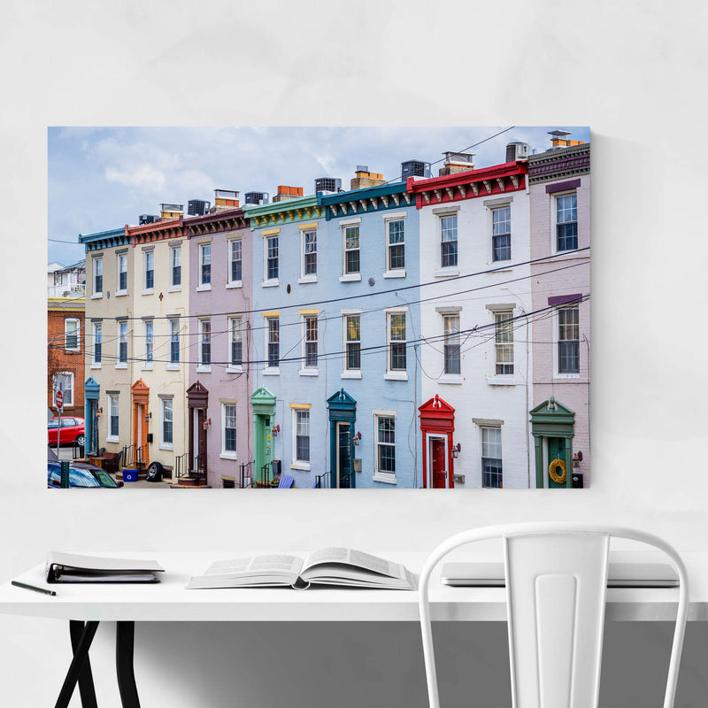 Colorful Houses Philadelphia Art Print