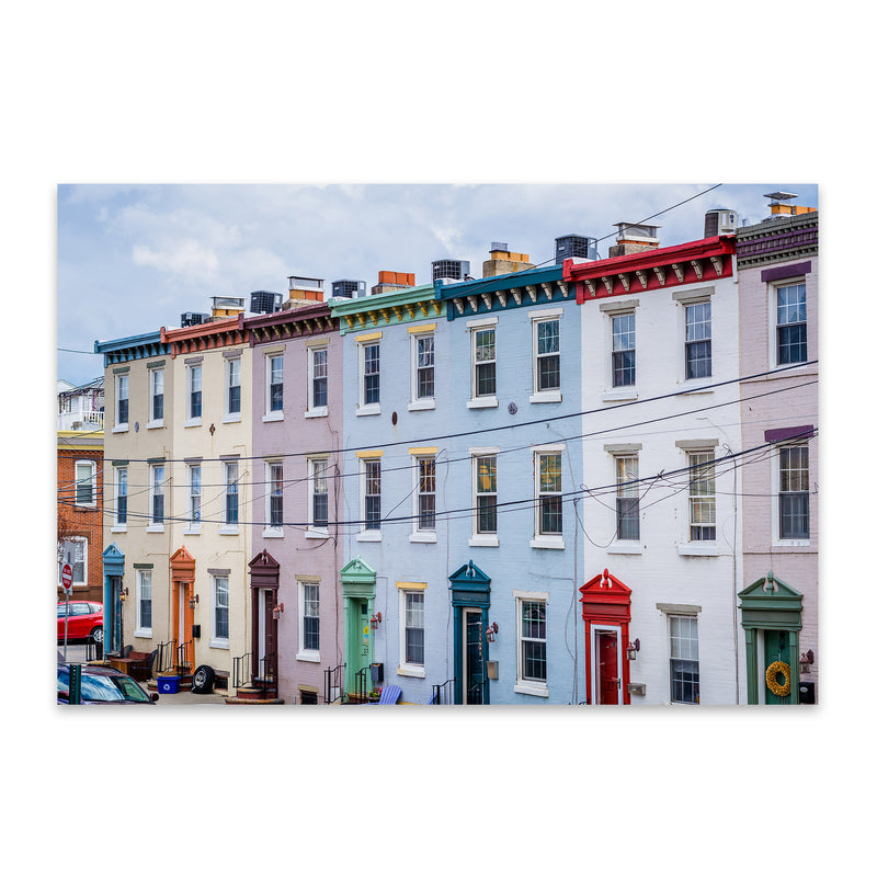 Colorful Houses Philadelphia Metal Art Print