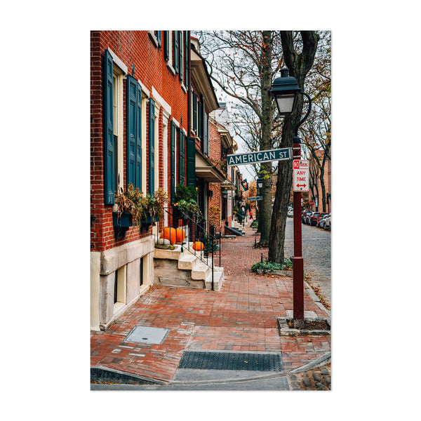 Philadelphia Society Hill Houses Art Print