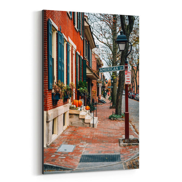 Philadelphia Society Hill Houses Canvas Art Print