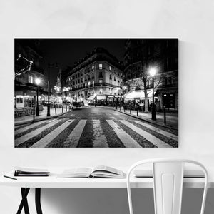 Paris France Cobblestone Street Art Print