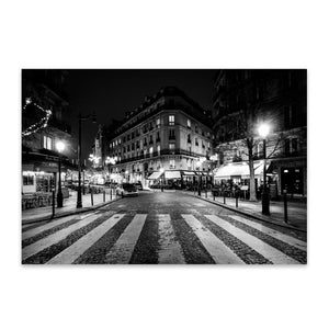 Paris France Cobblestone Street Metal Art Print