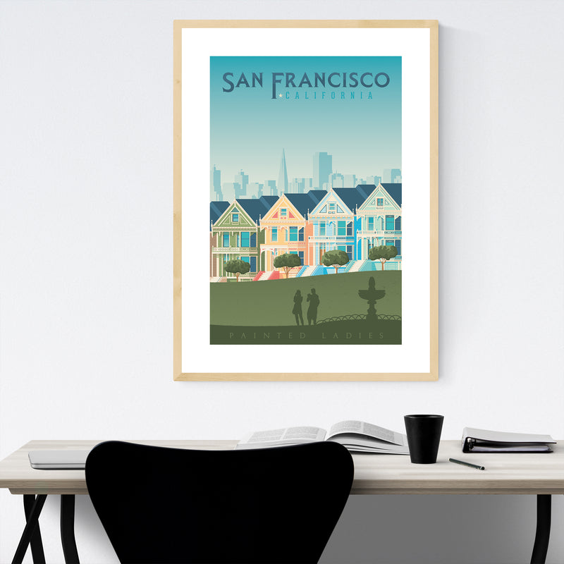 San Francisco Painted Ladies Framed Art Print