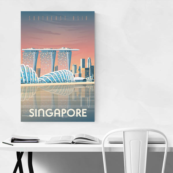 Minimal Singapore Travel Print Art Print