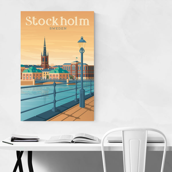 Minimal Stockholm Travel Print Art Print