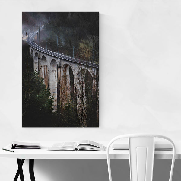 Railroad Bridge Jura Switzerland Art Print