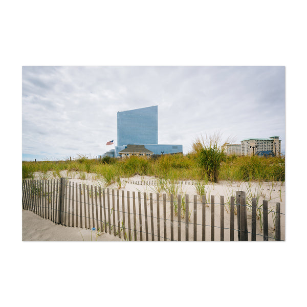 New Jersey Beach Sand Dunes Art Print