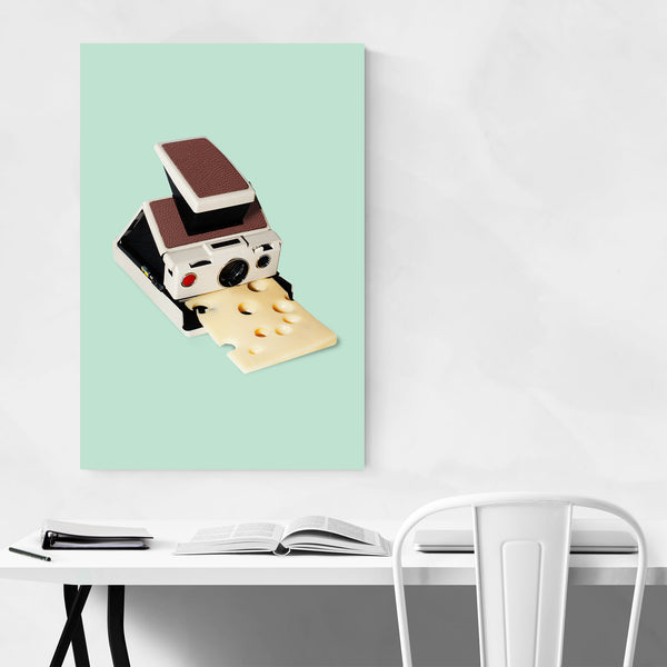Instant Camera Cheese Funny Art Print