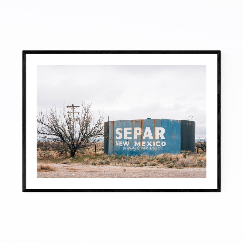 Separ New Mexico Water Tank Framed Art Print